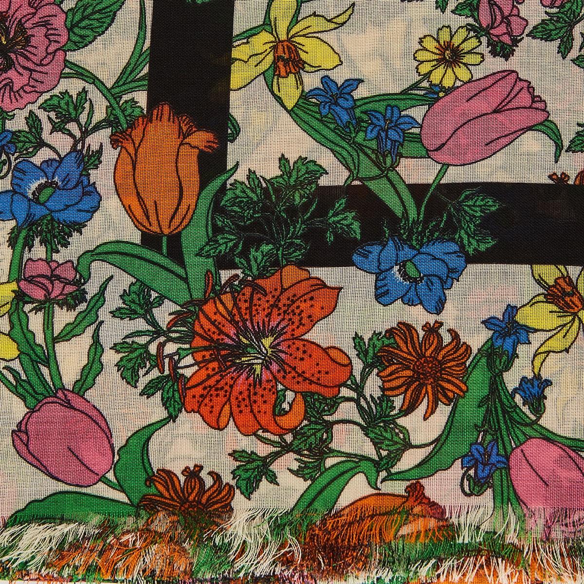 Flora printed wool scarf