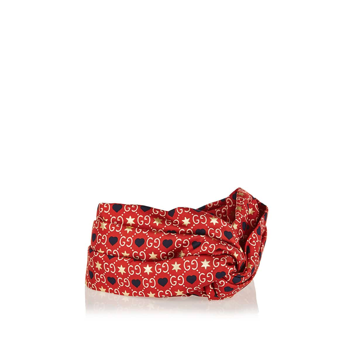 GG printed silk headband