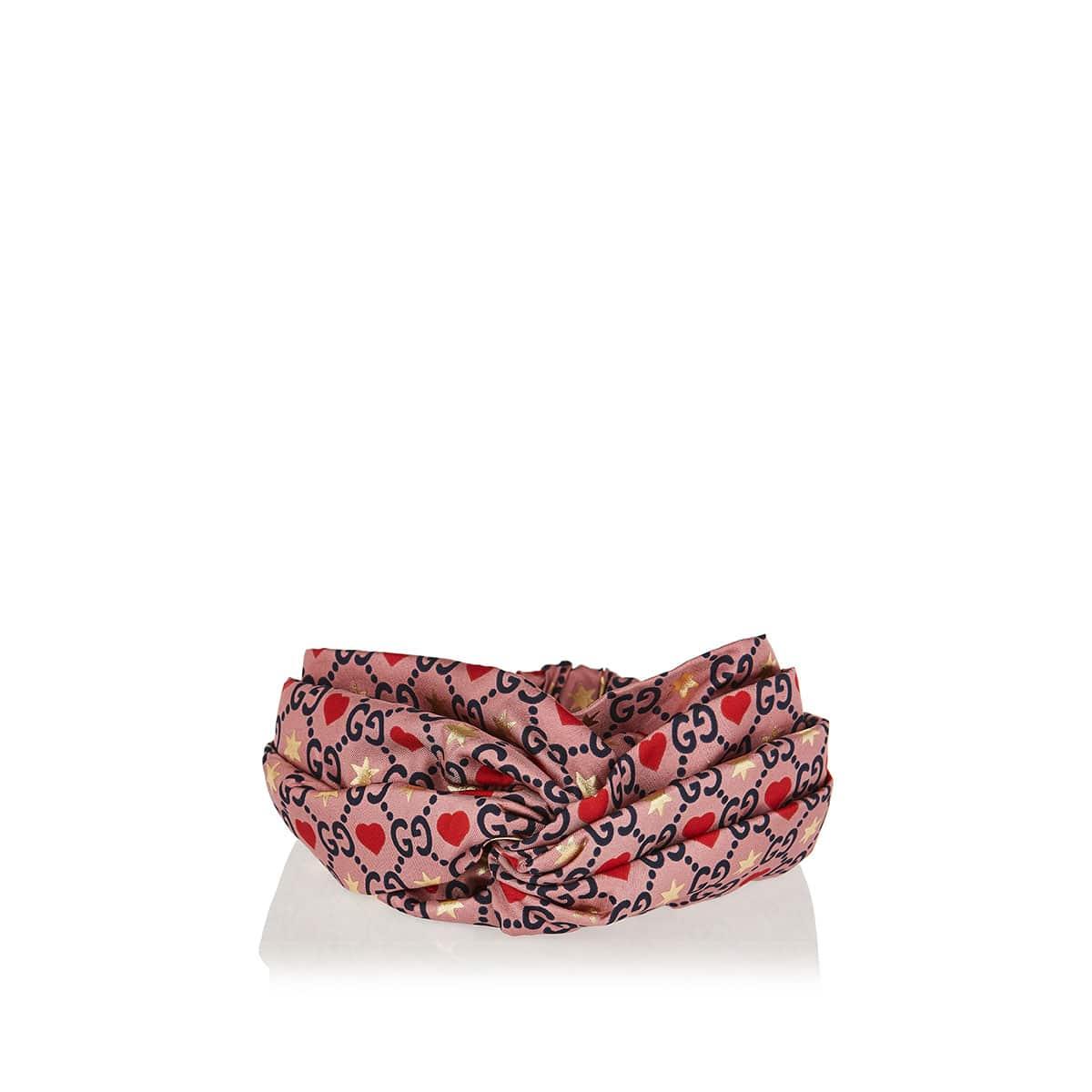 GG printed silk headband