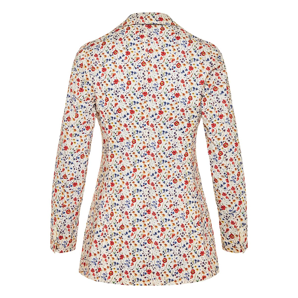 The Stella double-breasted floral blazer