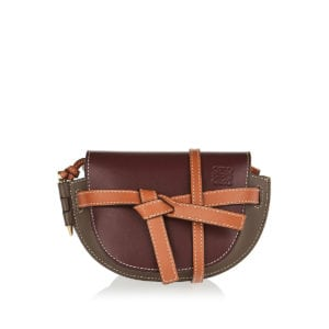 Gate mini tricolor leather bag