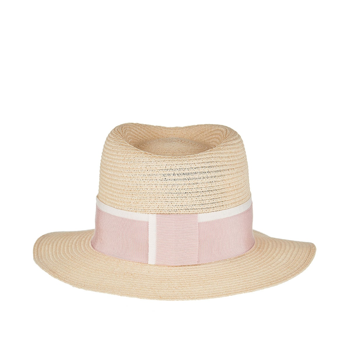 André straw trilby hat