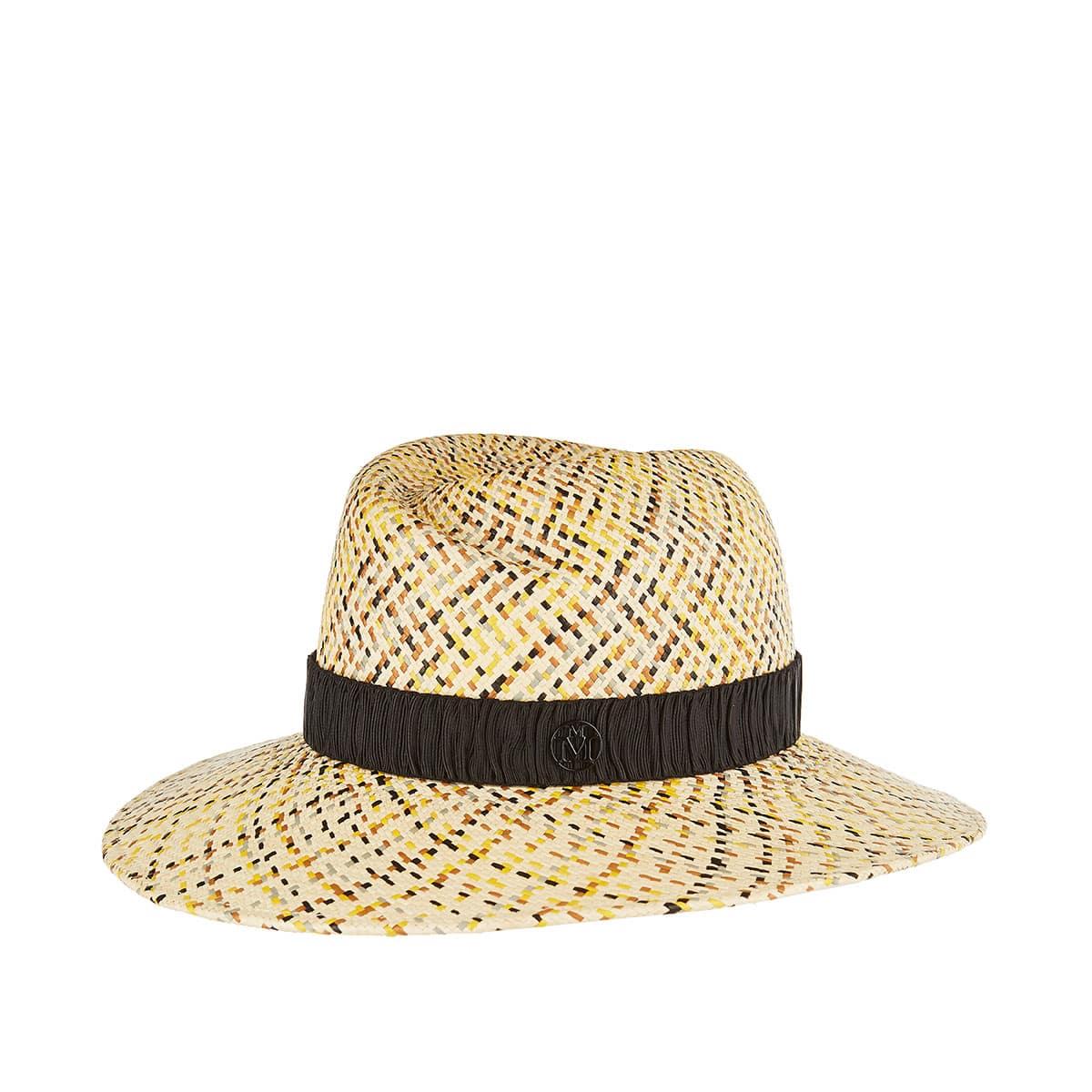 Virginie woven straw fedora hat