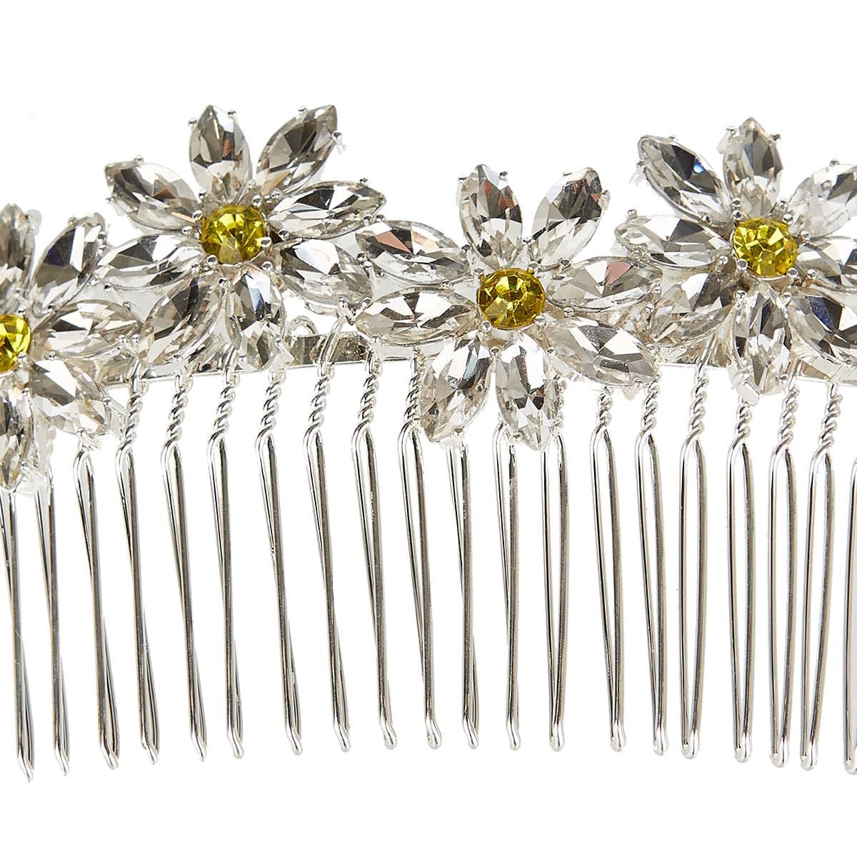 Pinta crystal-embellished comb