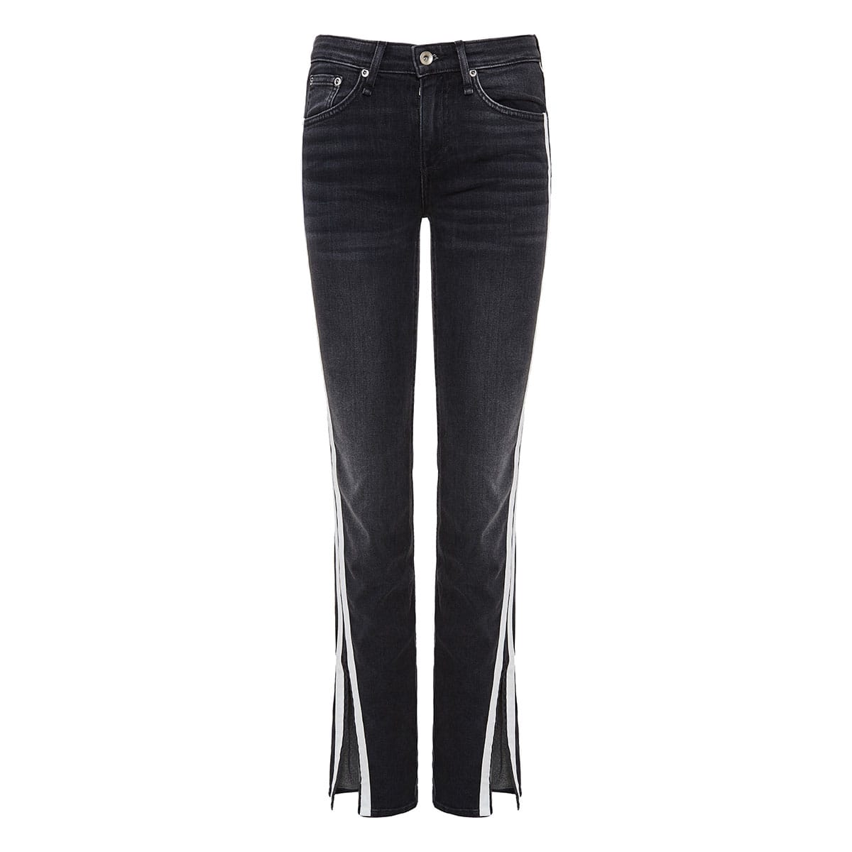 Cate side-striped jeans with slits