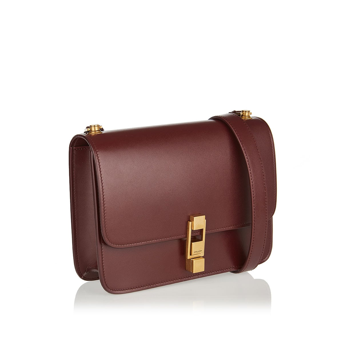 Carre leather satchel bag