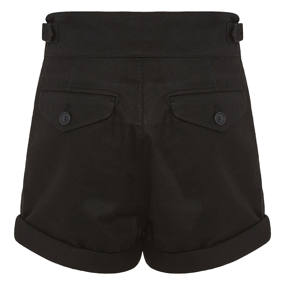 High-waist cotton shorts
