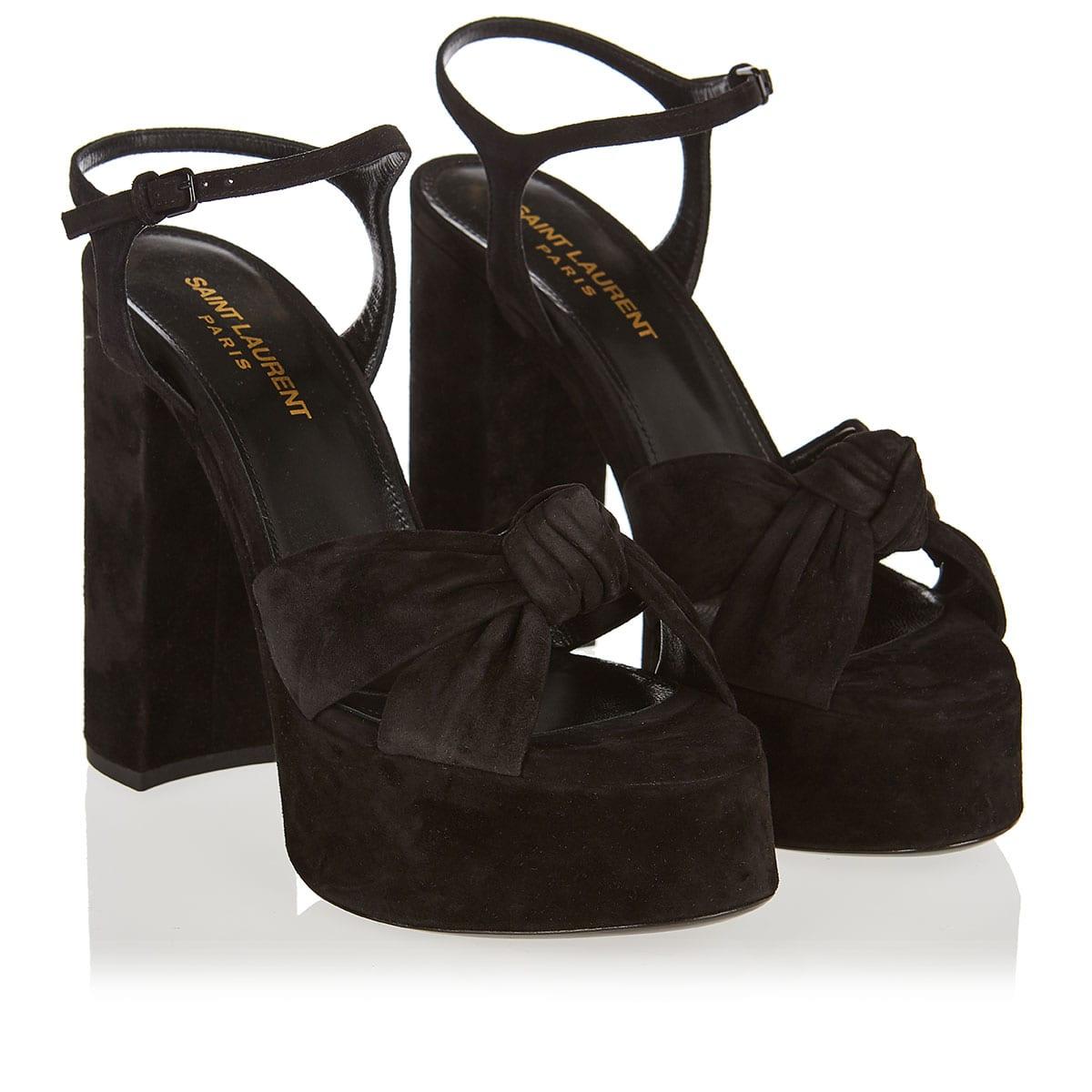 Bianca suede platform sandals