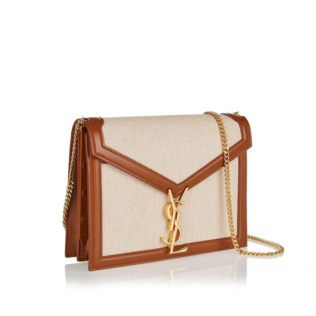 Cassandra leather-trimmed canvas bag