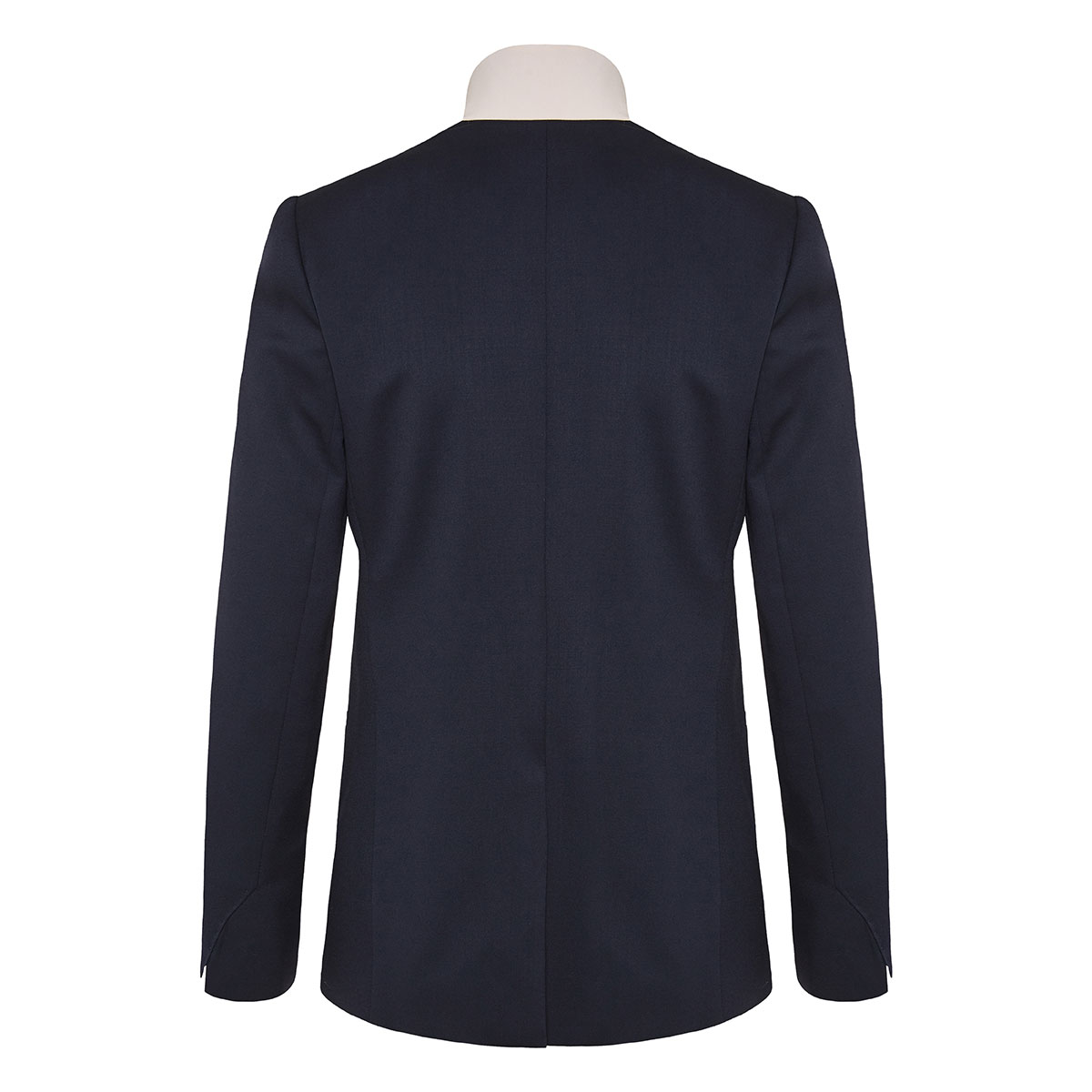 Inverted collar wool blazer