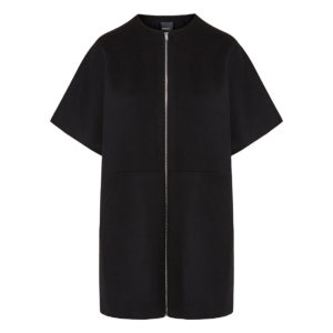 Short-sleeved wool coat