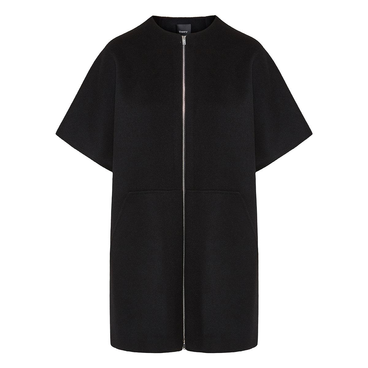 Short-sleeved wool coat