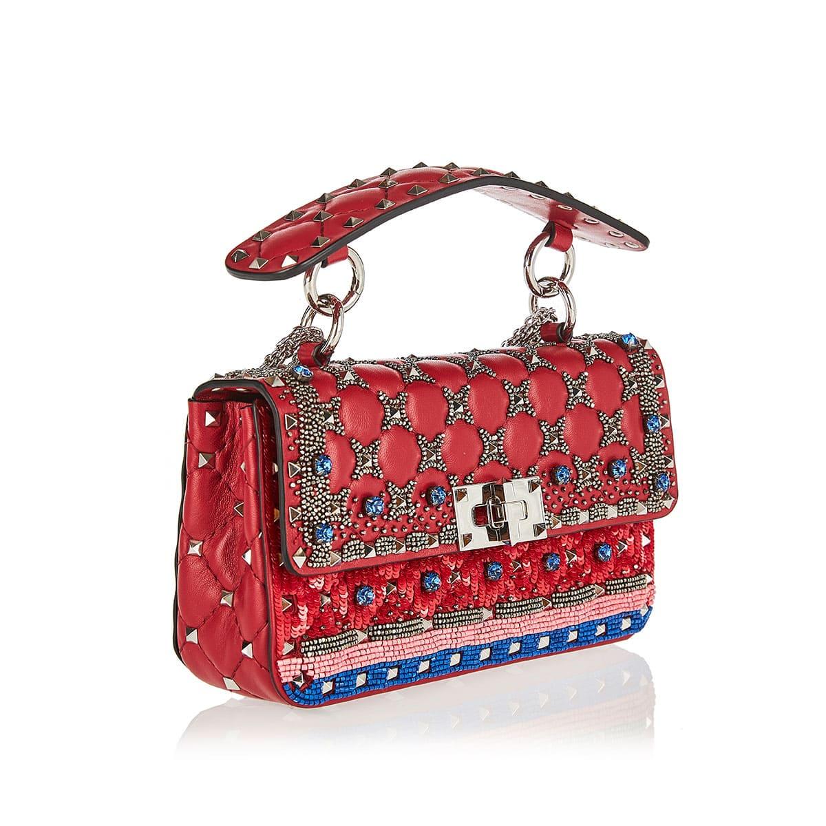 Rockstud Spike.It small embellished leather bag