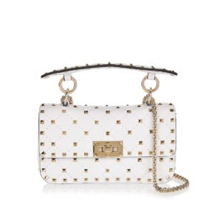Rockstud Spike small leather bag