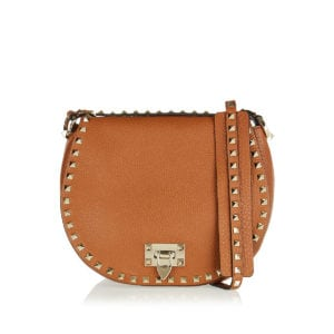 Rockstud leather crossbody bag