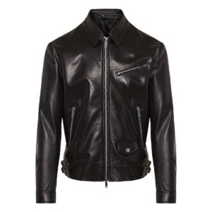 VLTN leather biker jacket