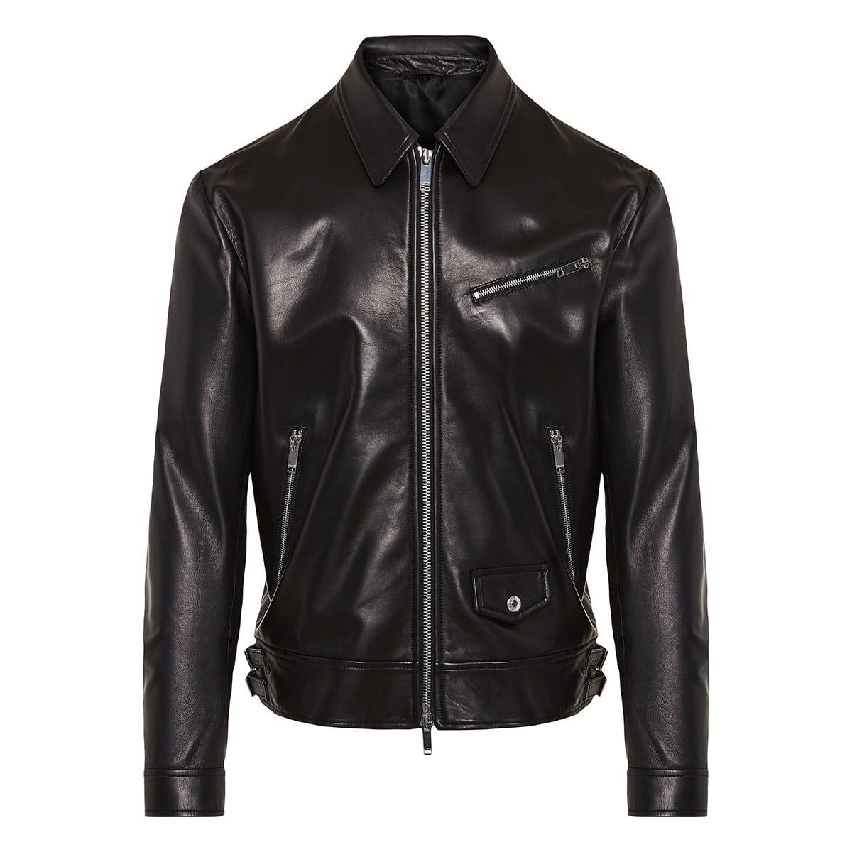 VLTN leather biker jacket