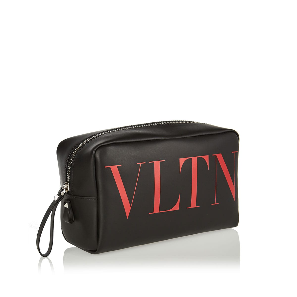 VLTN leather wash bag