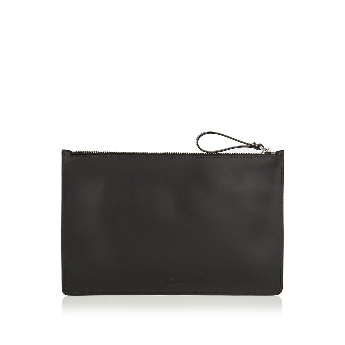 VLTN logo leather pouch