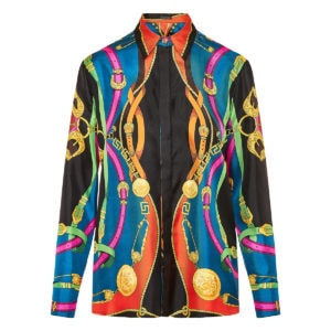 Barocco Rodeo printed silk shirt