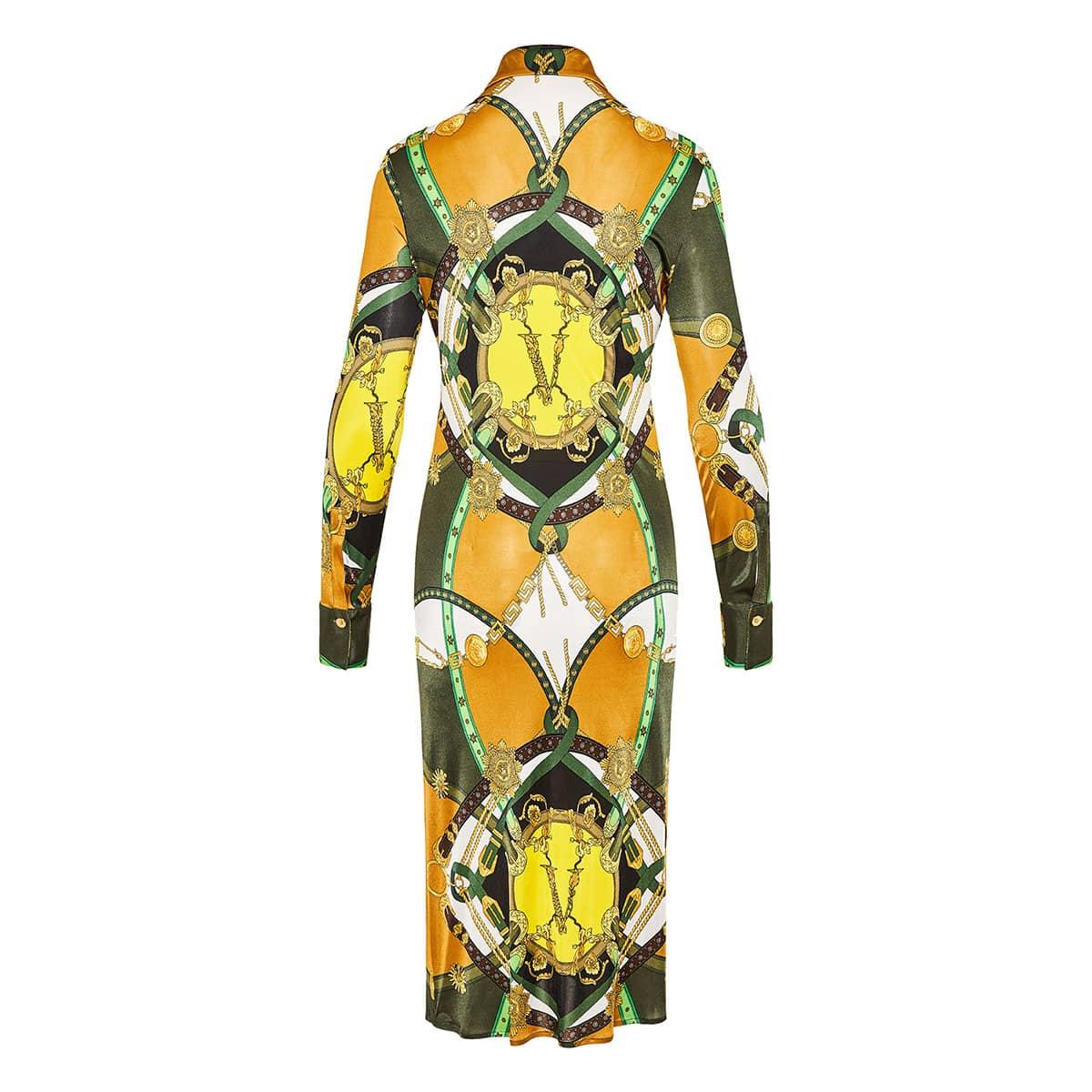 Barocco Rodeo printed midi shirt dress