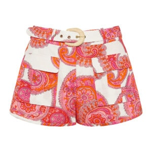 Peggy paisley mini shorts