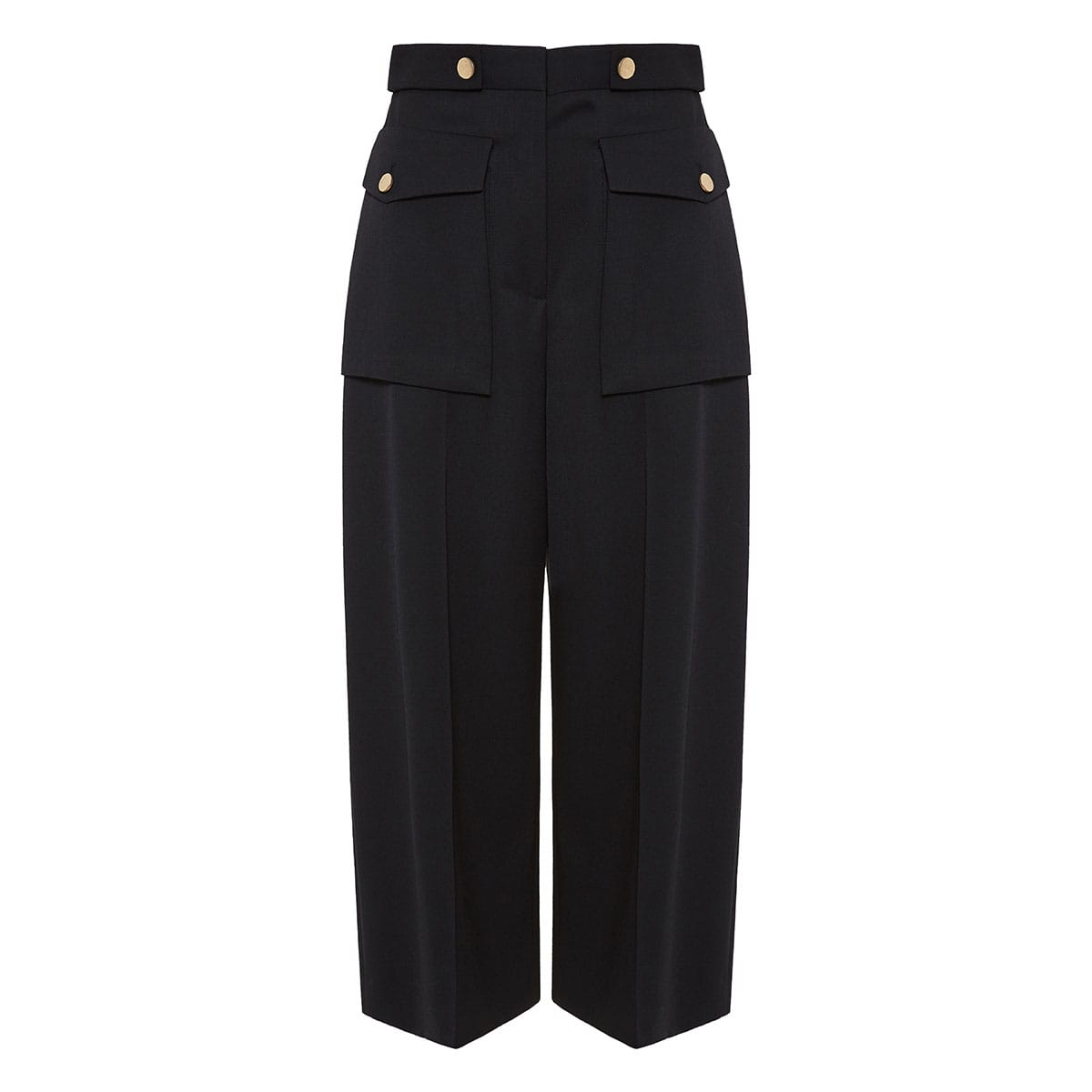 Military culottes-trousers