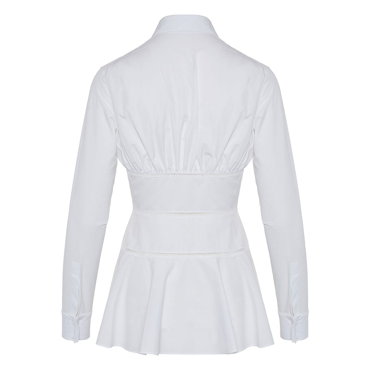 Poplin corset shirt