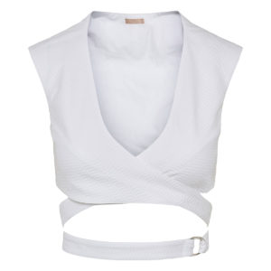 Wrap-around cropped top