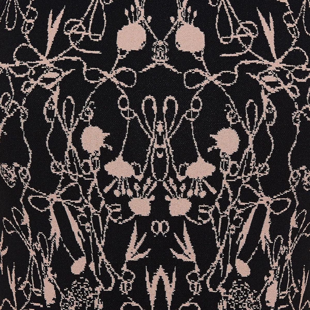 Jacquard-knitted mini dress