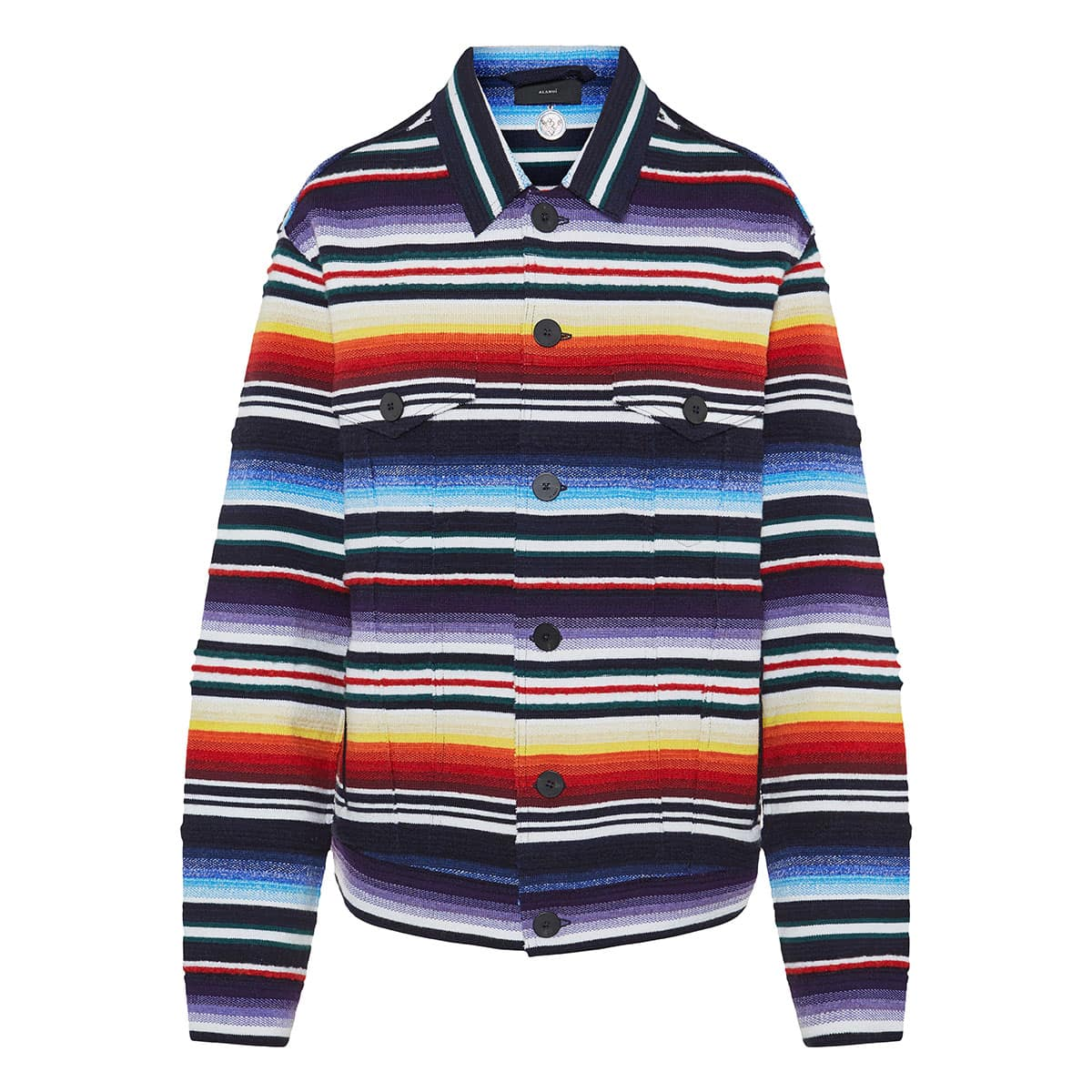 Sarape striped cashmere jacket