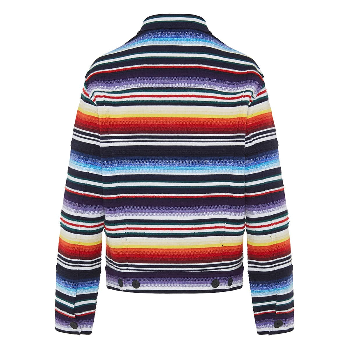 Sarape striped cashmere jacket