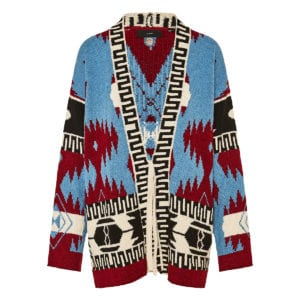 Oversized jacquard cotton cardigan