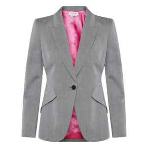 Single-breasted structured blazer