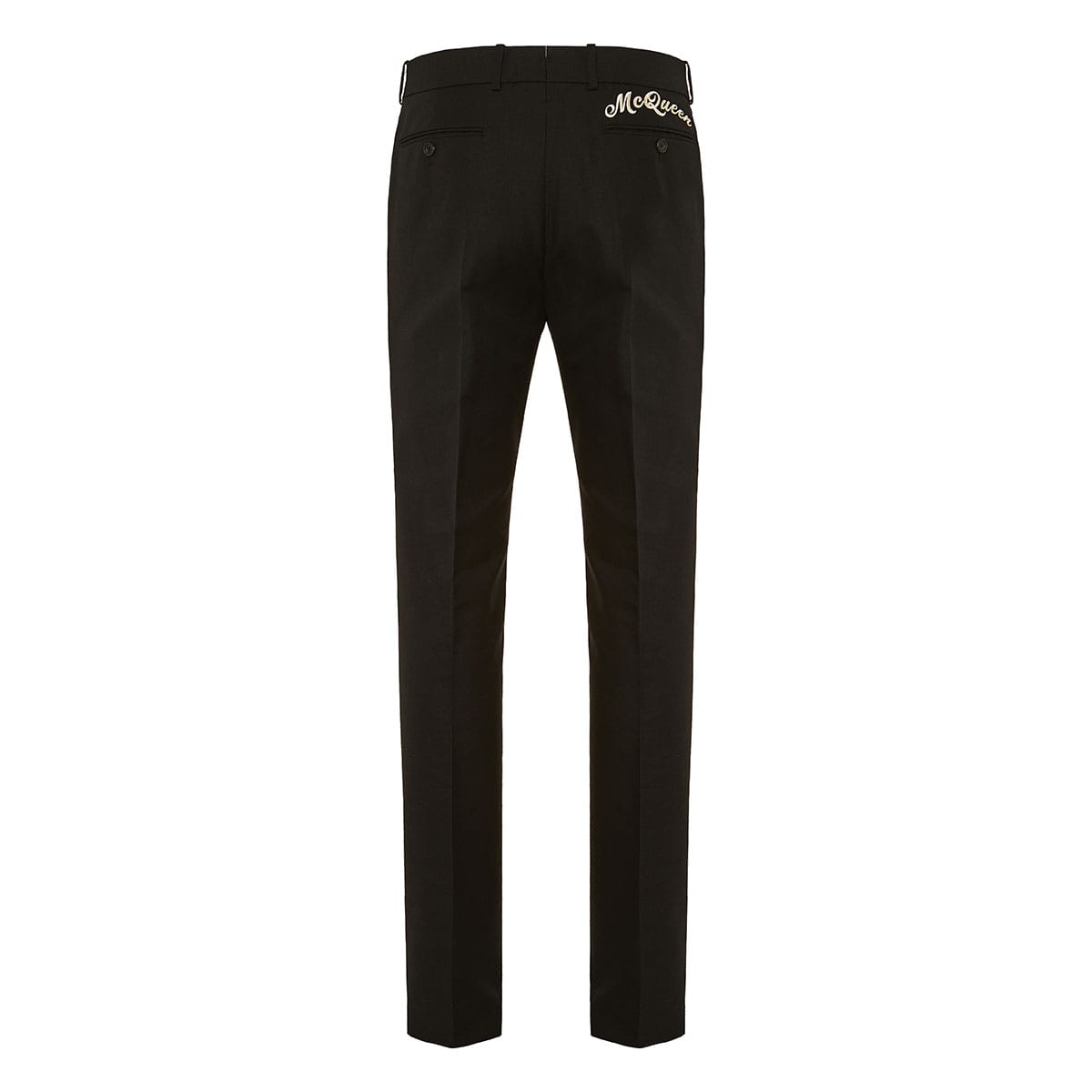 Logo-embroidered tailored trousers
