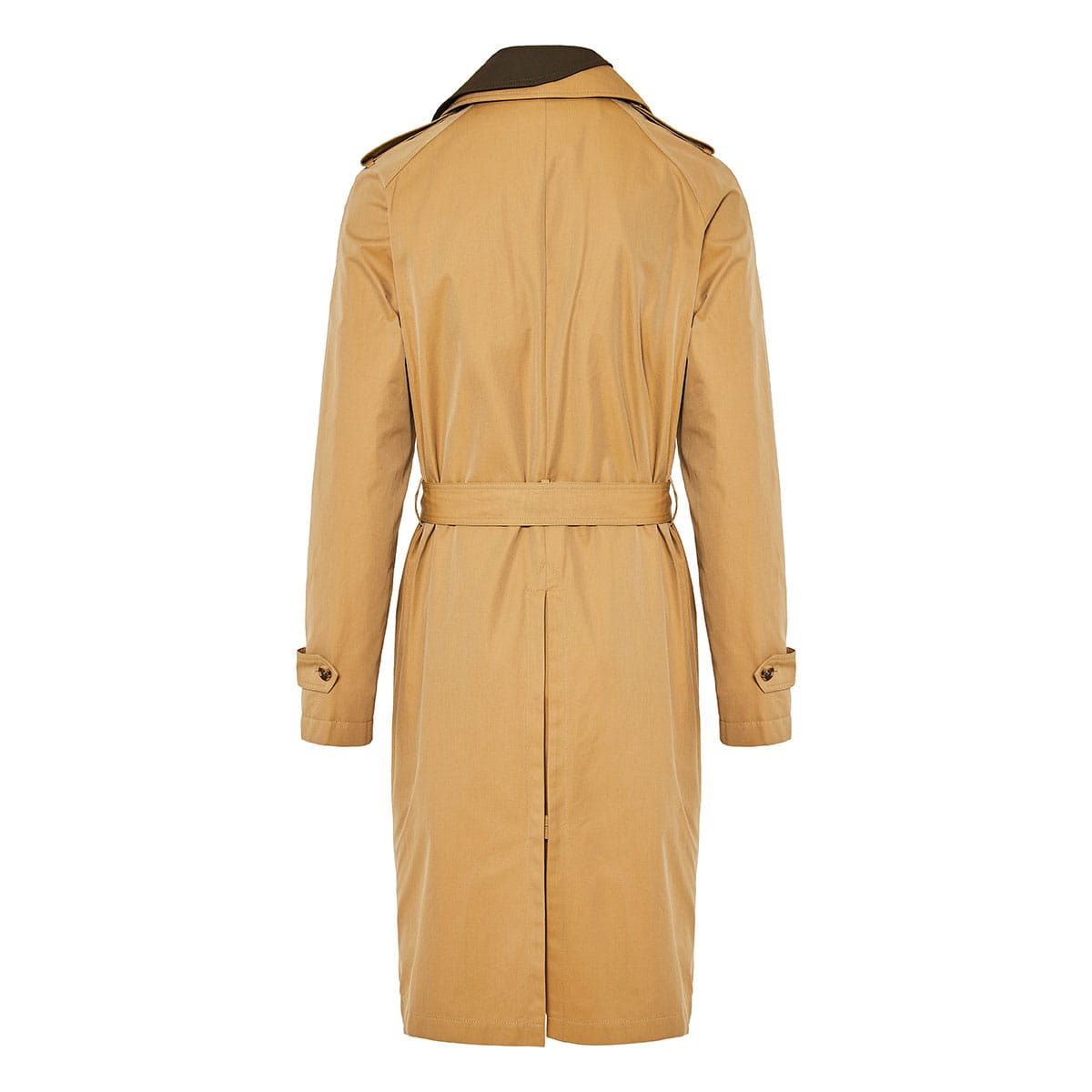 Two-tone asymmetric trench coat
