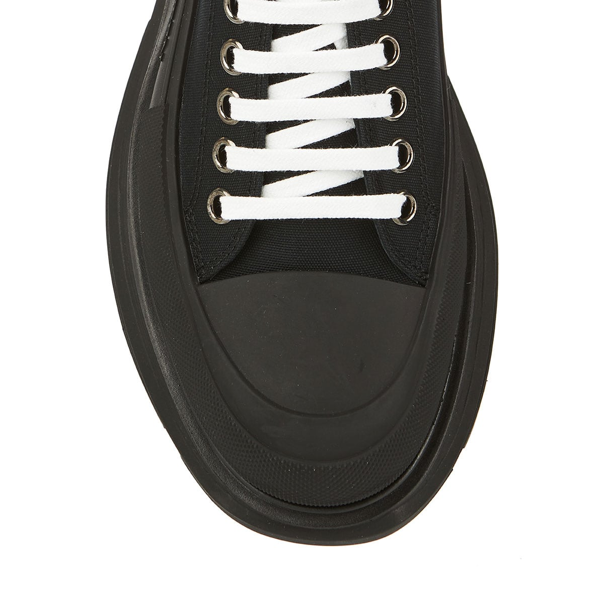 Tread-sole canvas trainers