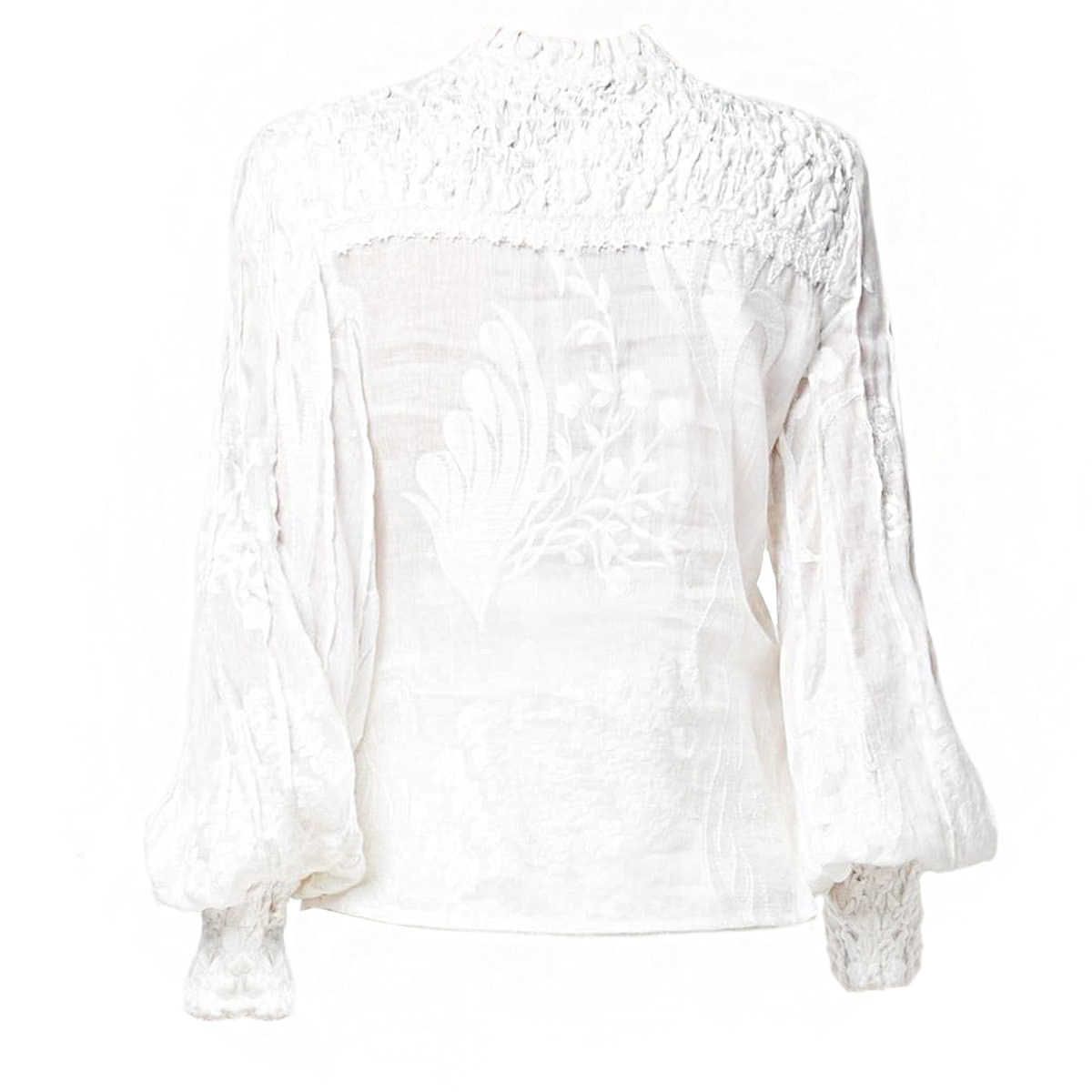 Bismarck embroidered linen blouse