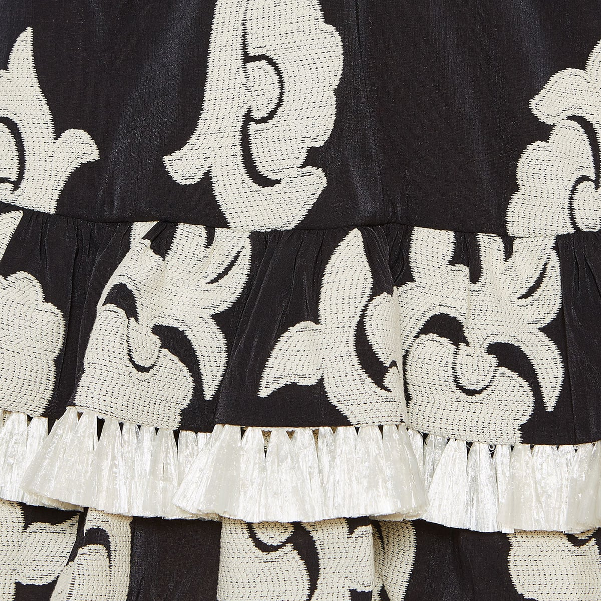 Embroidered ruffled mini dress