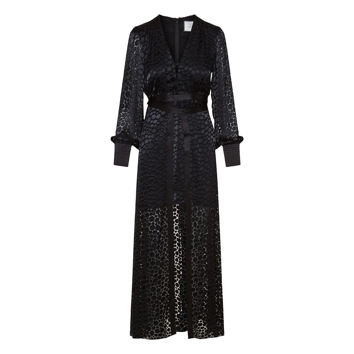Cordelia long textured dress
