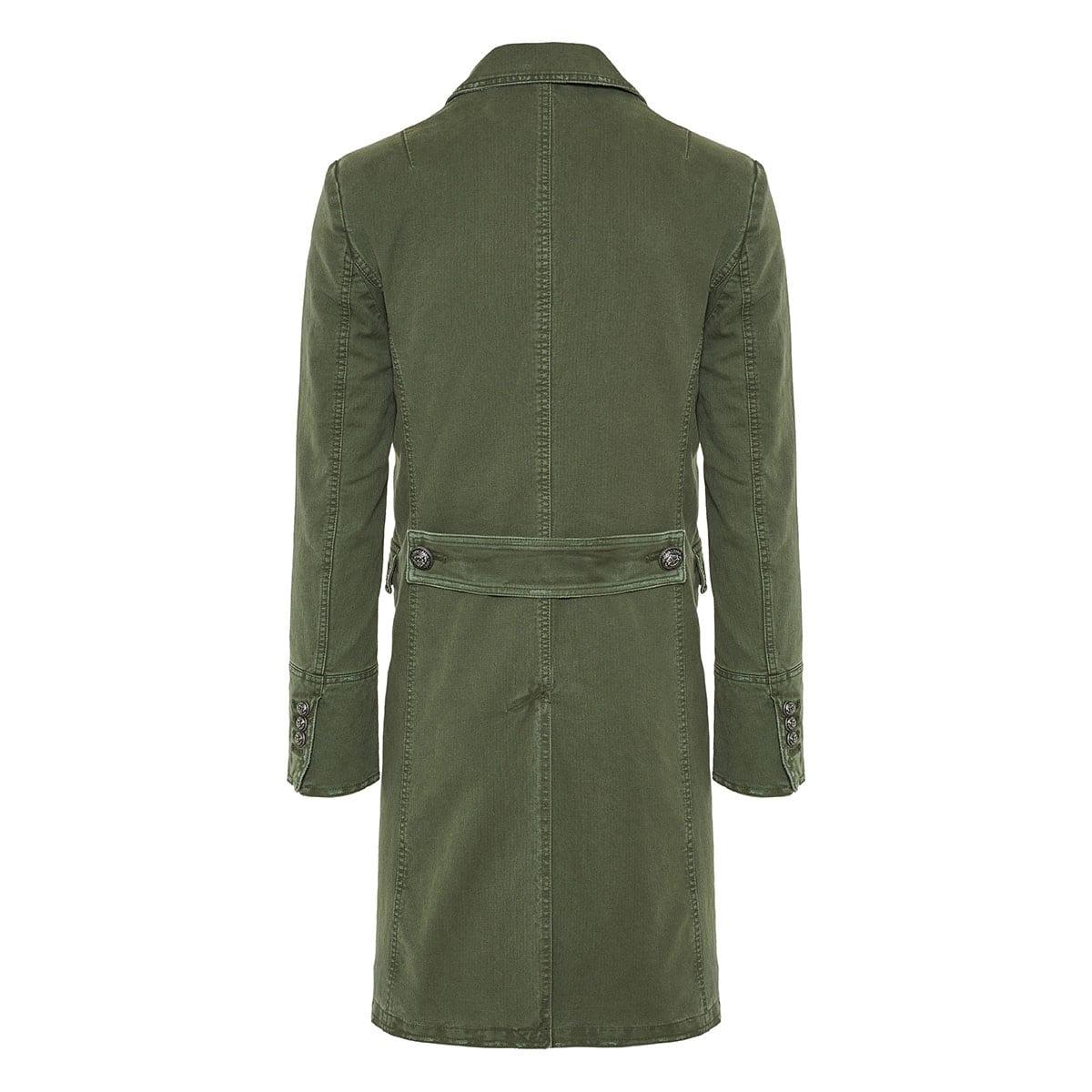 Military denim coat