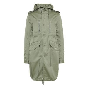 Logo cotton parka coat