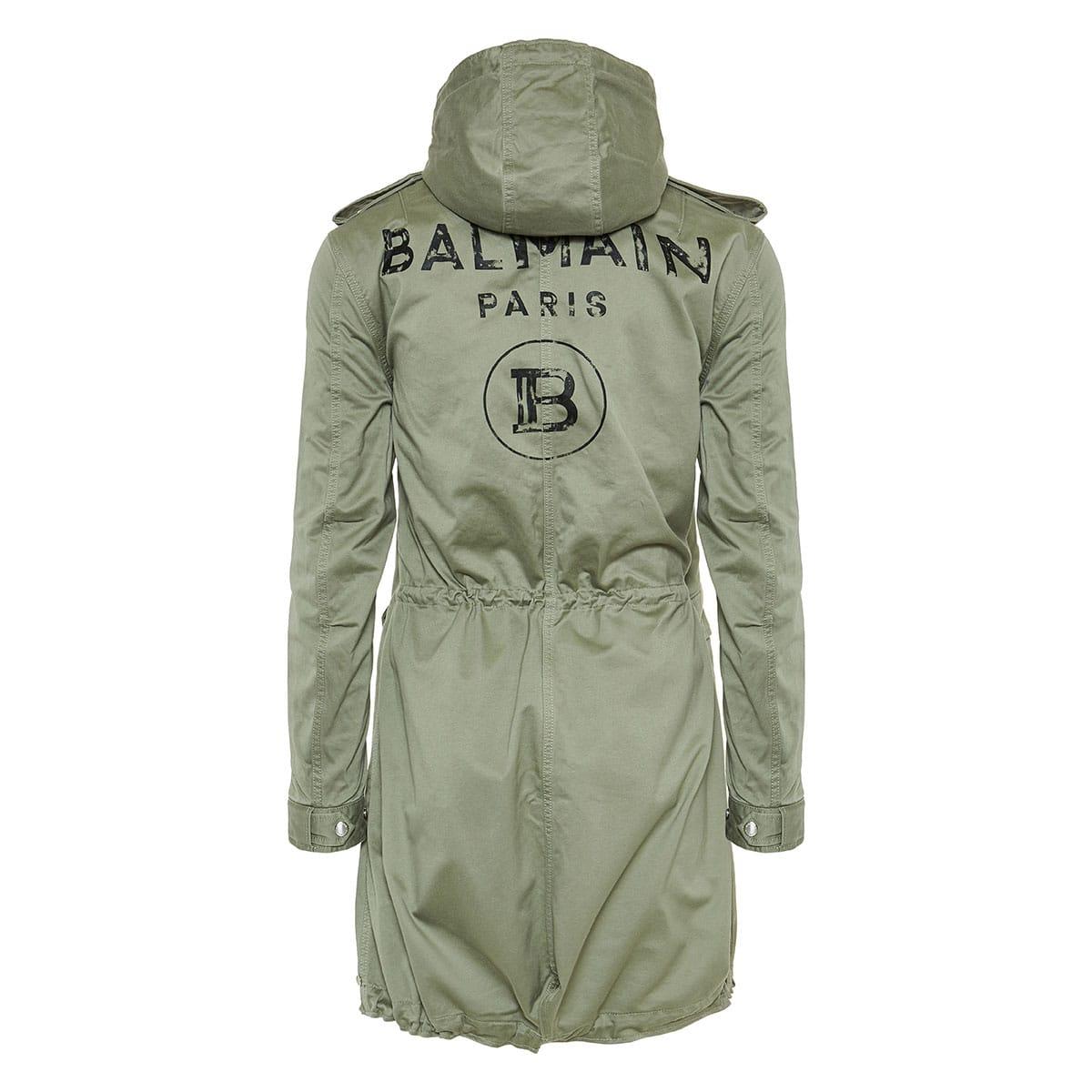 Logo cotton parka coat