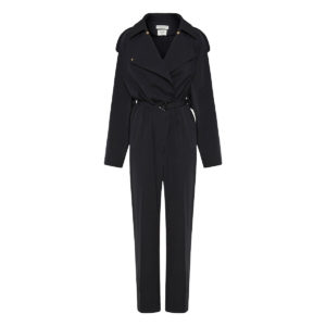 Belted trench-style jumpsuit