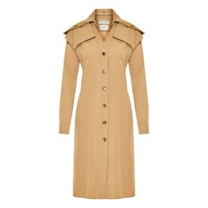 Wool midi shirt dress