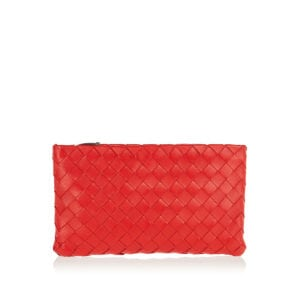 Medium Intrecciato leather pouch