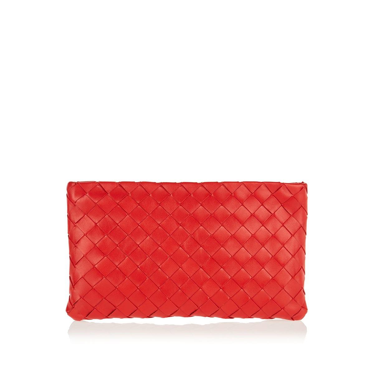 Medium Intrecciato leather pouch