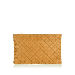 Large Intrecciato leather pouch