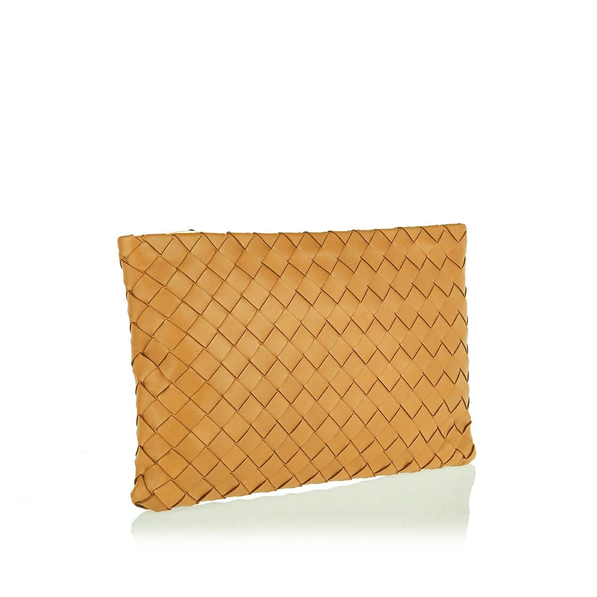 Large Intrecciato leather pouch