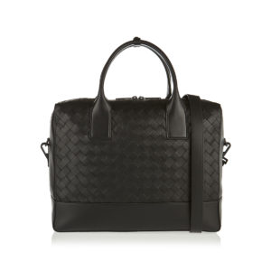 Intrecciato leather duffle bag